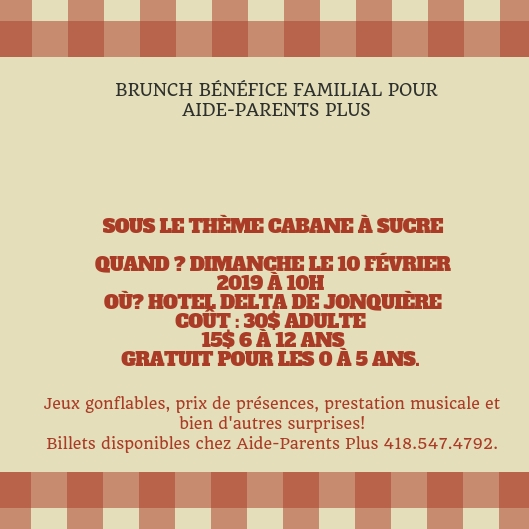 Brunch bnfice familial pour aide parents plus 1